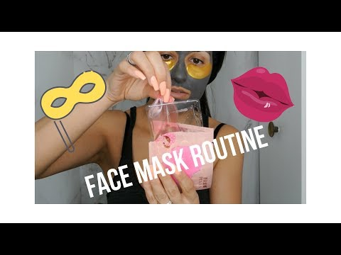 FACE MASK ROUTINE! SPA TIME AT HOME! All can be found on AMAZON!!!