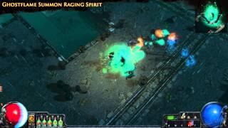 Path of Exile - Ghostflame Summon Raging Spirit
