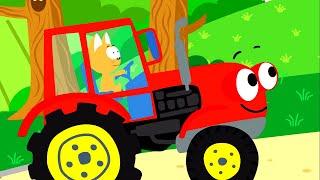 КОТЭ ТВ - Большой сборник - Песни про машинки, тракторы, животных!