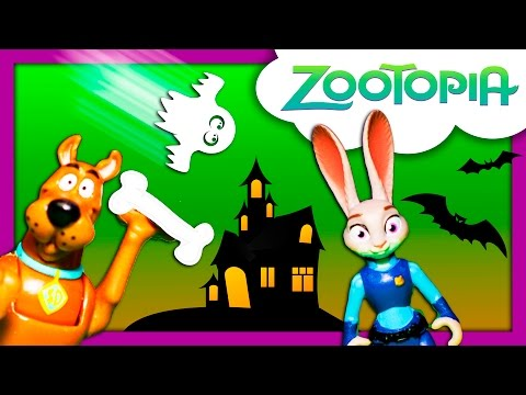 ZOOTOPIA + SCOOBY Doo Haunted Town Officer Judy Hopps Arrests Ghost Spooky Scooby Doo Video Parody