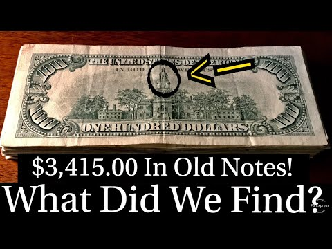 What Did We Find In $3,415.00 Of Old Bank Notes