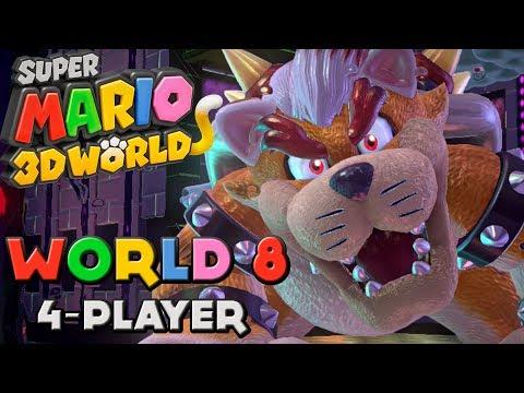 super mario 3d world 4 players wiiriketopray