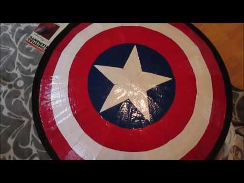 DIY Captain America's Shield-CARDBOARD! EASY! - YouTube
