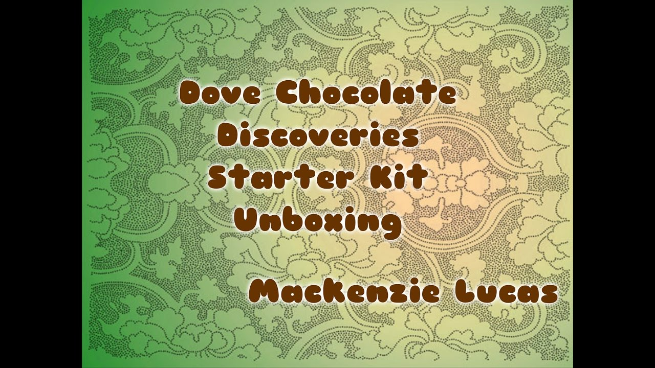 Dove Chocolate Discoveries Starter Kit Unboxing Youtube