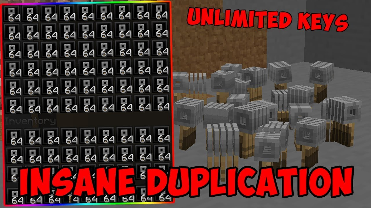 INSANE NEW DUPING GLITCH IN MINECRAFT ULTIMATE DUPLICATION OF UNLIMITED  BUYCRAFT KEYS