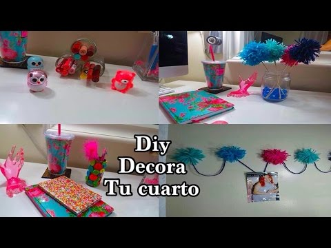 Diy 4 ideas decora tu cuarto reciclado youtube - Como decorar una sala con cosas recicladas ...