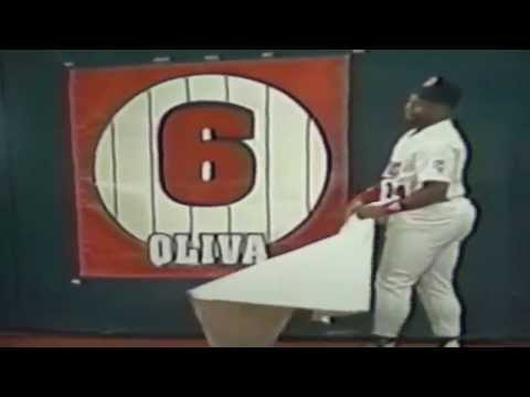 Kirby Puckett Unveils Retired Number Tony Oliva