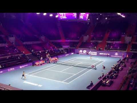 Saint-Petersburg Open 2018. Siniakova vs. Vekic. Attack.