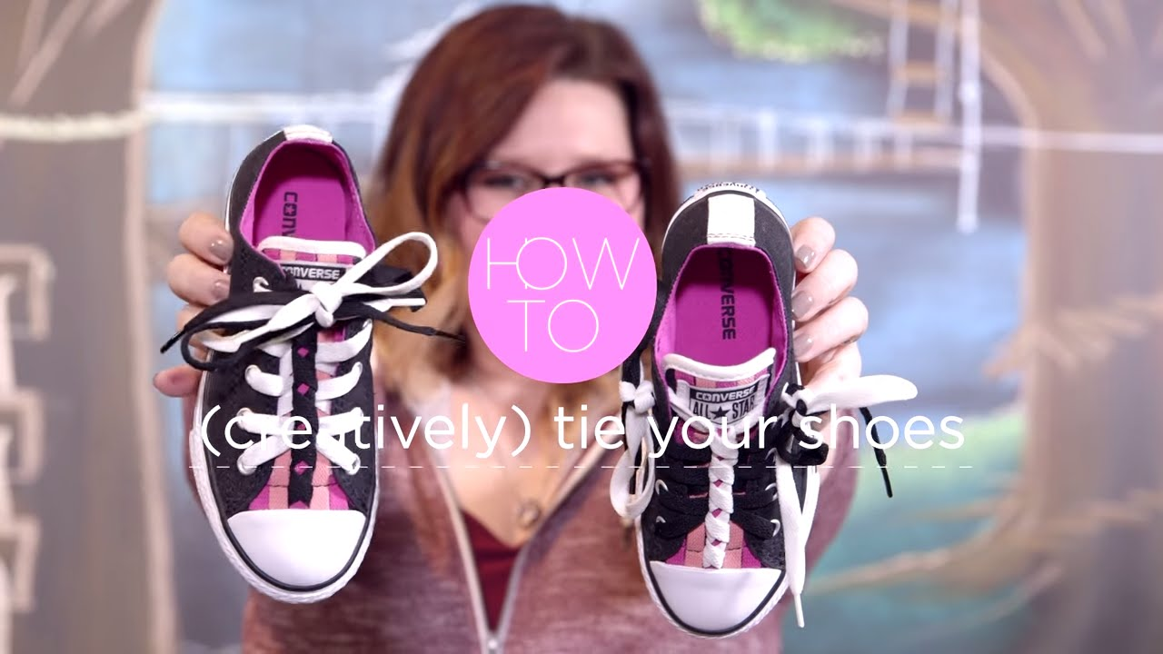 f9dcb36d63ed How to (creatively) Tie Your Shoe  The Funky Twist - YouTube