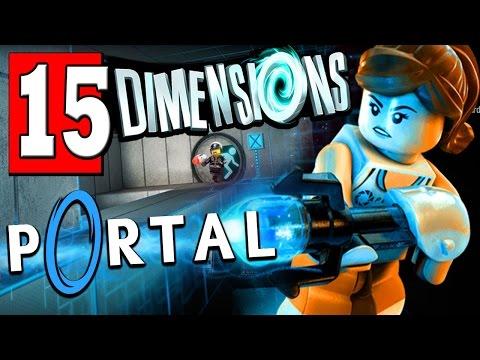 LEGO Dimensions Walkthrough Part 15 TEST CHAMBER 2 / Lego Dimensions PORTAL 2