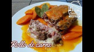 Rollo de carne molida de res sin horno │Meatloaf │ Sandy's International Recipes