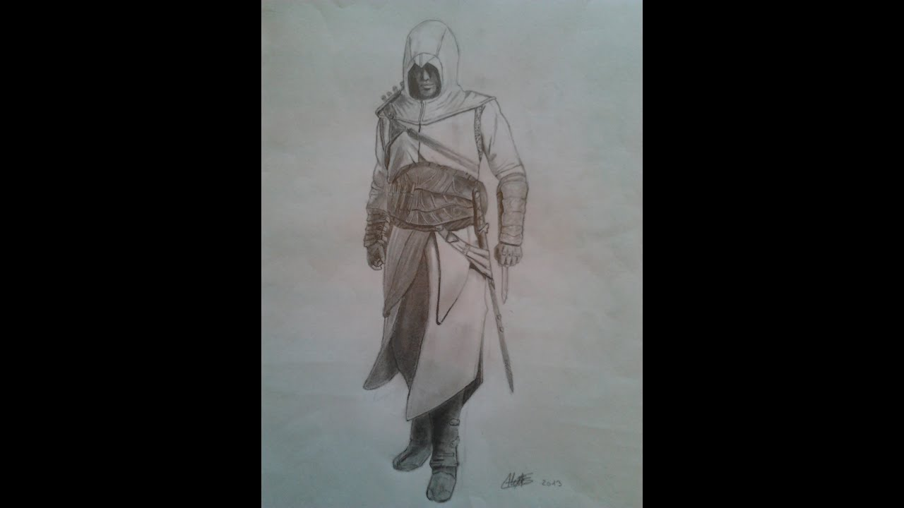 Uncategorized How To Draw Altair draw step by altair assassins creed youtube