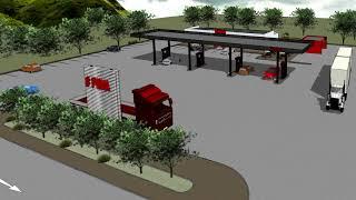 Maputsoe Service Station Concept Design