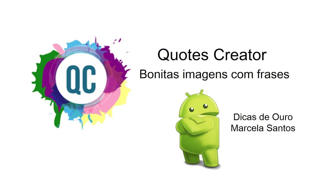 Quotes Creator Edição De Imagem Com Frasesquotes Creator Aplicativo  Youtube