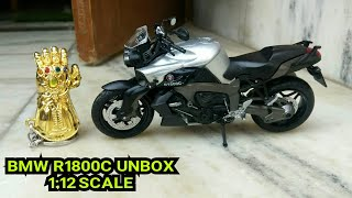BMW R1800C HX 792 Die cast model 1:12 scale unboxing & overview