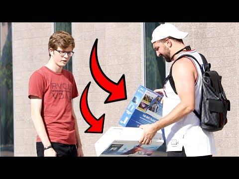 Making Strangers Choose Between Free Playstation & Free XBOX!