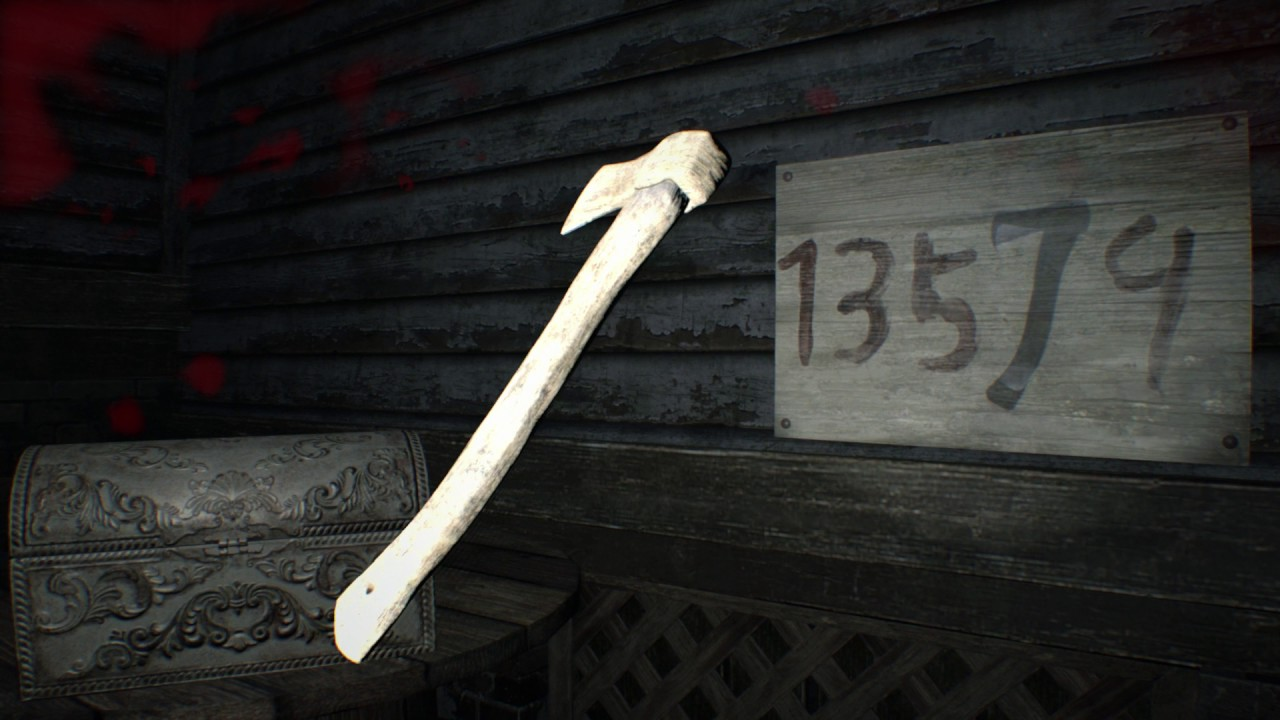 Resident Evil 7 Courtyard Toy Axe Shadow Puzzle 13574