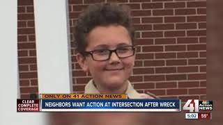 Neighbors want action at intersection after wreck