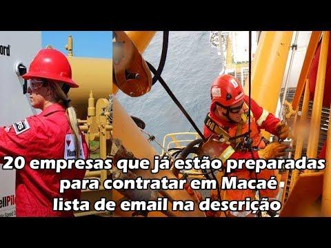 20 empresas contratando offshore para trabalhar em plataformas petróleo