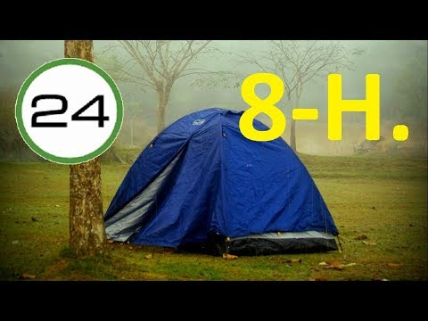 RAIN SOUND to SLEEP 8 HOURS⛺☔ Heavy Rain in CAMP TENT to Sleep Deeply