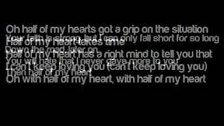 half of my heart john mayer and taylor swift lyrics on screen