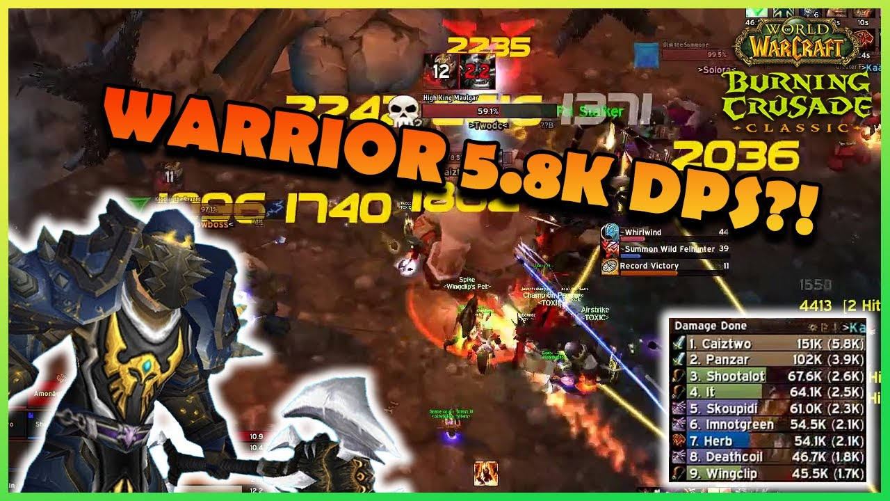 WARRIOR 5.8K DPS?!   Daily Classic WoW Highlights #99  
