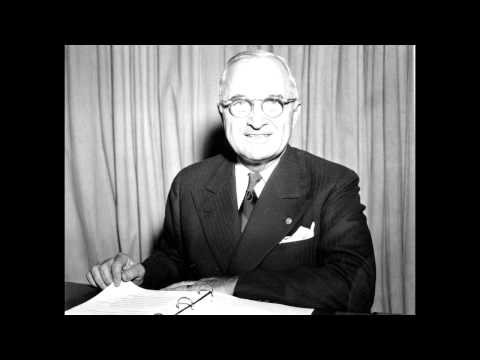 "Harry Truman ""Surrender of Japan"" Speech (1945) [AUDIO RESTORED]"