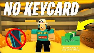 HOW TO ROB THE JAILBREAK BANK *WITHOUT* A KEYCARD! GLITCH (Roblox)