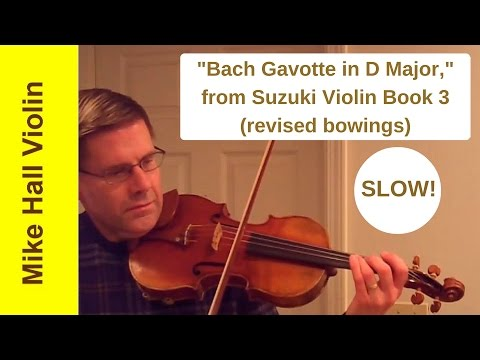 Bourree Violin Suzuki Book  Slow