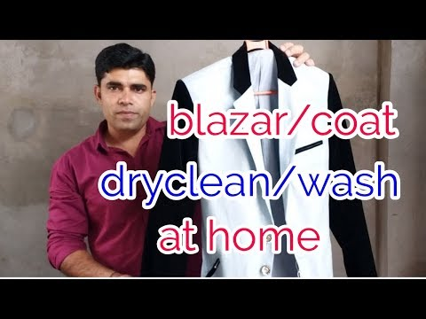 Demonstration how to dryclean/wash velvet  blazer at home ..(hindi)