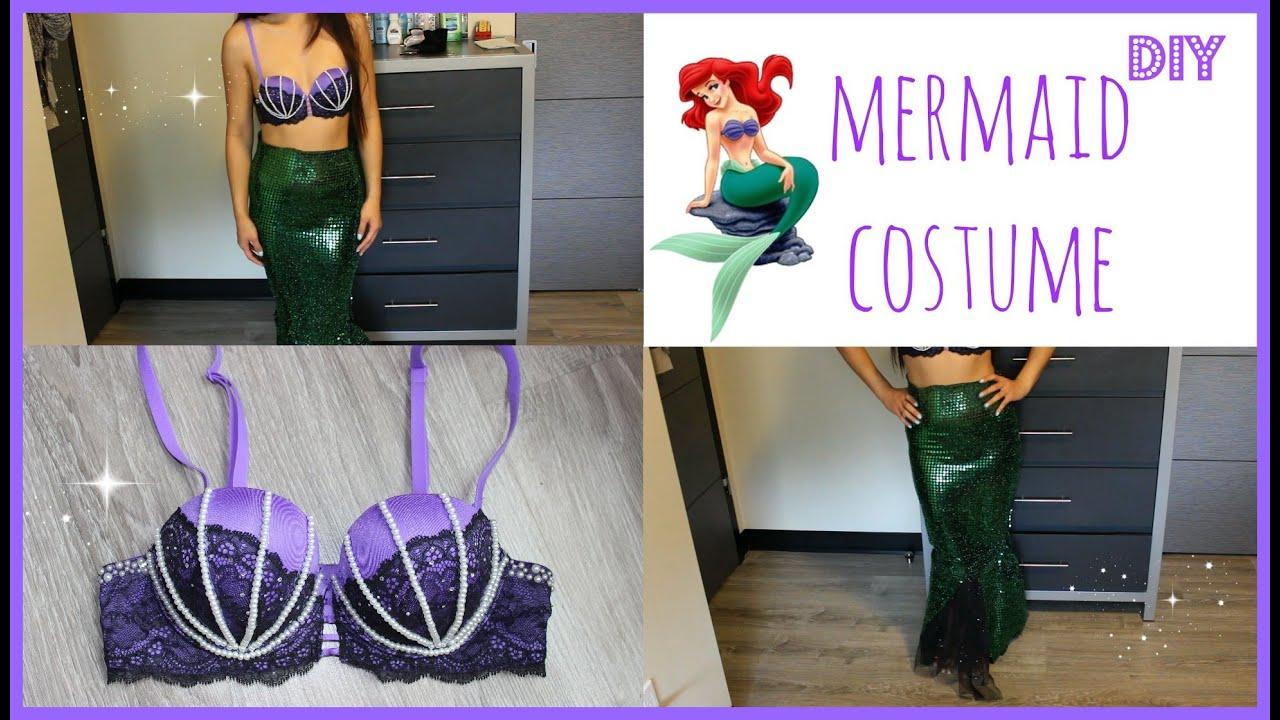 EASY DIY HALLOWEEN COSTUME How to be a Mermaid or Ariel! NO SEW - YouTube & EASY DIY HALLOWEEN COSTUME: How to be a Mermaid or Ariel! NO SEW ...
