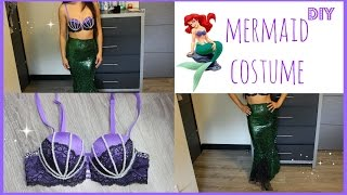 EASY DIY HALLOWEEN COSTUME: How to be a Mermaid or Ariel! NO SEW