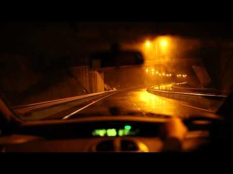 Driving at night in the rain, ASMR, no talking