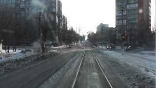 Трамвай г.Тула Красный Перекоп - Ст.Металлург 13 маршрут(Из за лобового стекла видео может быть не качественным. заранее приношу извинения. ( Видео снято в воскресен..., 2013-02-18T19:49:35.000Z)