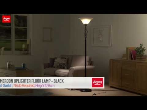 Buy Cameroon Uplighter Floor Lamp Black Youtube
