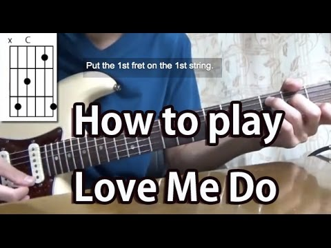 How to play Love Me Do-The Beatles-Guitar Tutorial with tabs - YouTube