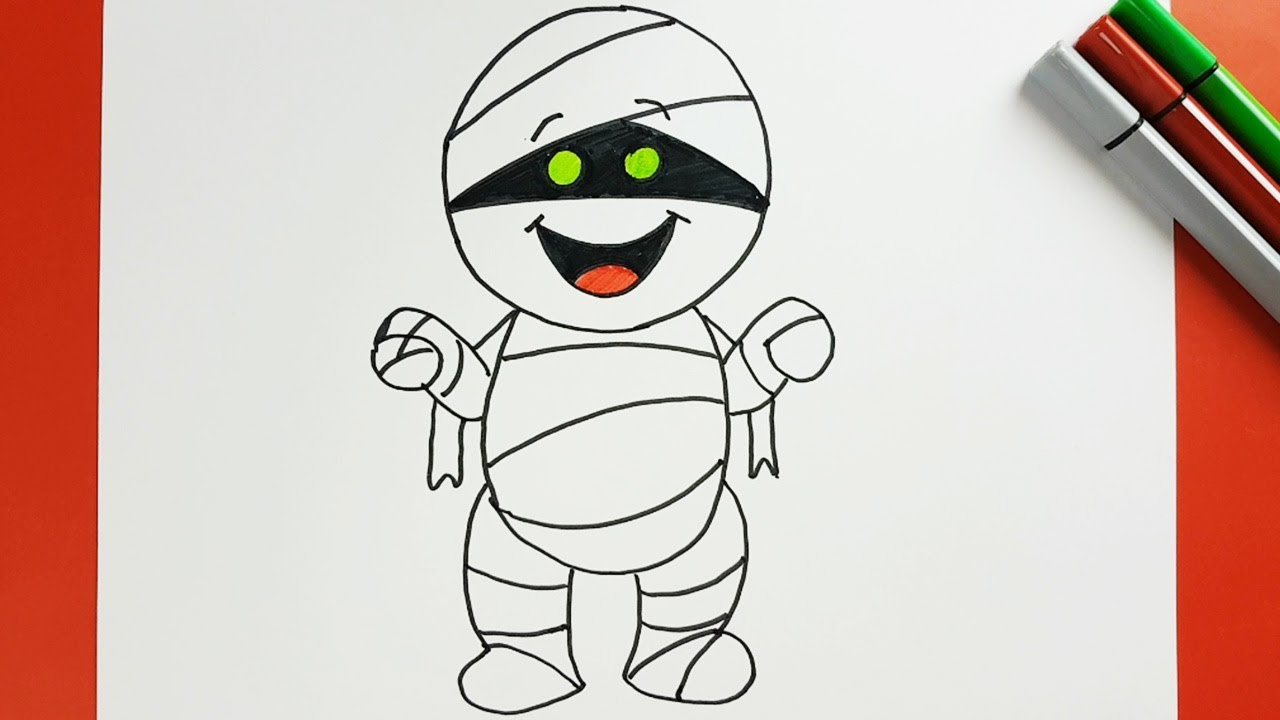 halloween special: how to draw a cute mummy | drawing halloween