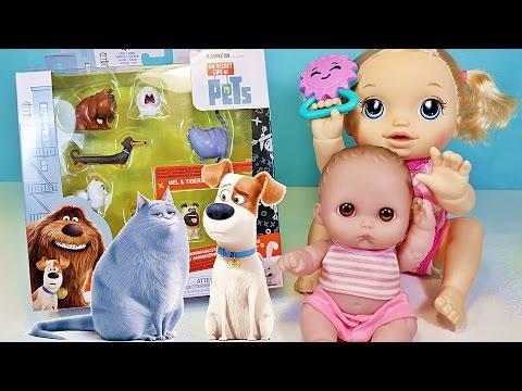 Куклы Пупсики Открывают Игрушки Тайная жизнь Домашних Животных. Беби Элайв ползает. Зырики ТВ