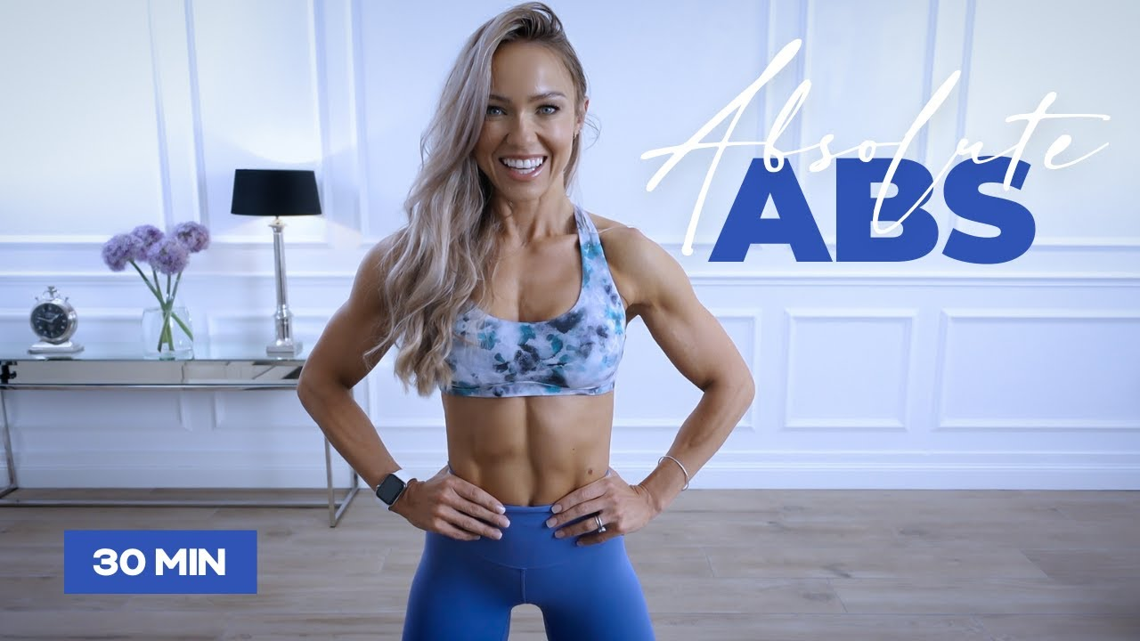 30 Minute ABSolute ABS and Core Workout at Home | Caroline Girvan
