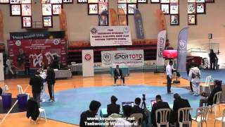 (4001) 55kg Halil Cevik vs Davut Firat  (2016 Turkish Junior TKD championships)