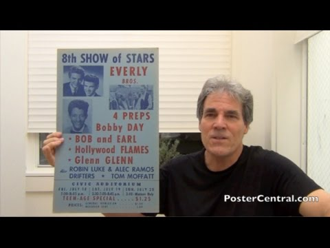 Everly Brothers Concert Posters 1950s Before & After Fame