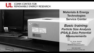 MET Basic Training Particle Size Analysis (PSA) & Zeta Potential Measurement