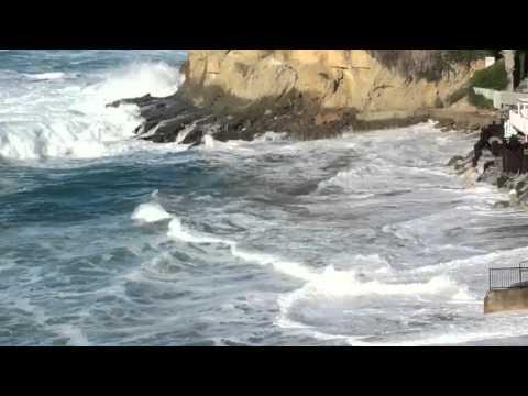 Big waves at Victoria Beach