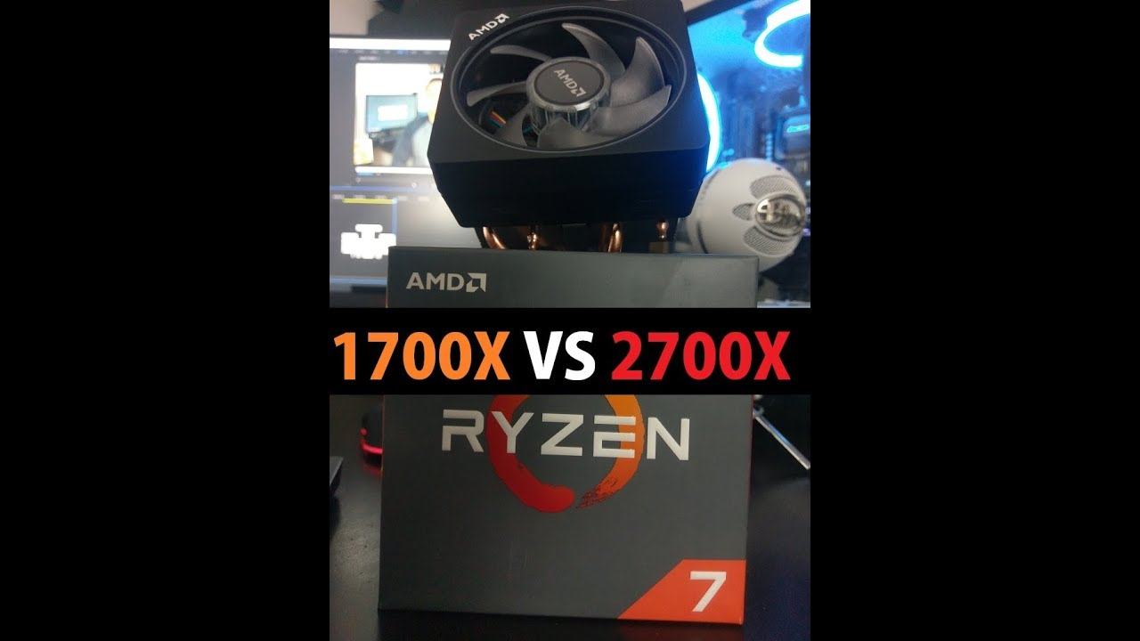 1700x vs 2700x with a B350 Motherboard  Benchmarks included