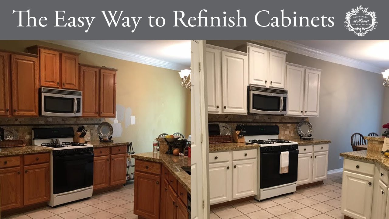 The Easy Way To Refinish Kitchen Cabinets Youtube