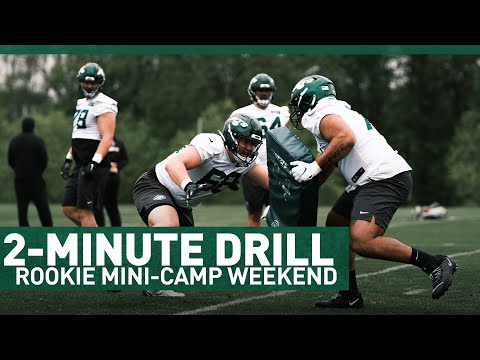 2-Minute Drill: Rookie Mini Camp Weekend | The New York Jets | NFL