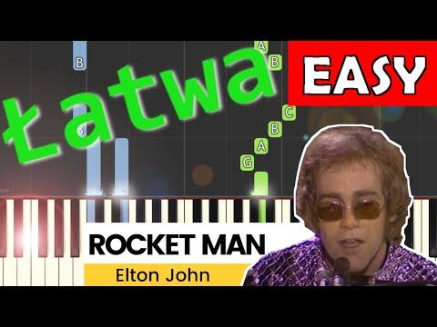 🎹 Rocket Man (Elton John) - Piano Tutorial (łatwa wersja) 🎹