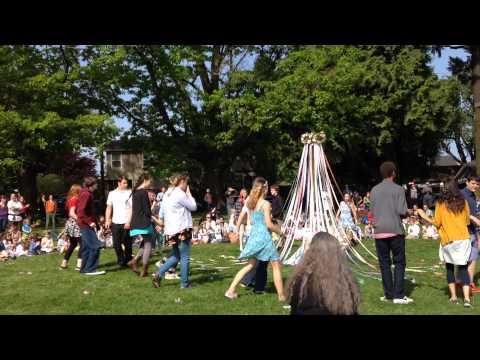 May Pole Dance Portland Village School 8th Graders