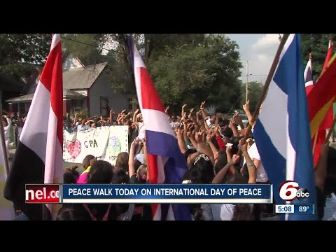 Indy students take part in International Day of Peace by leading a march