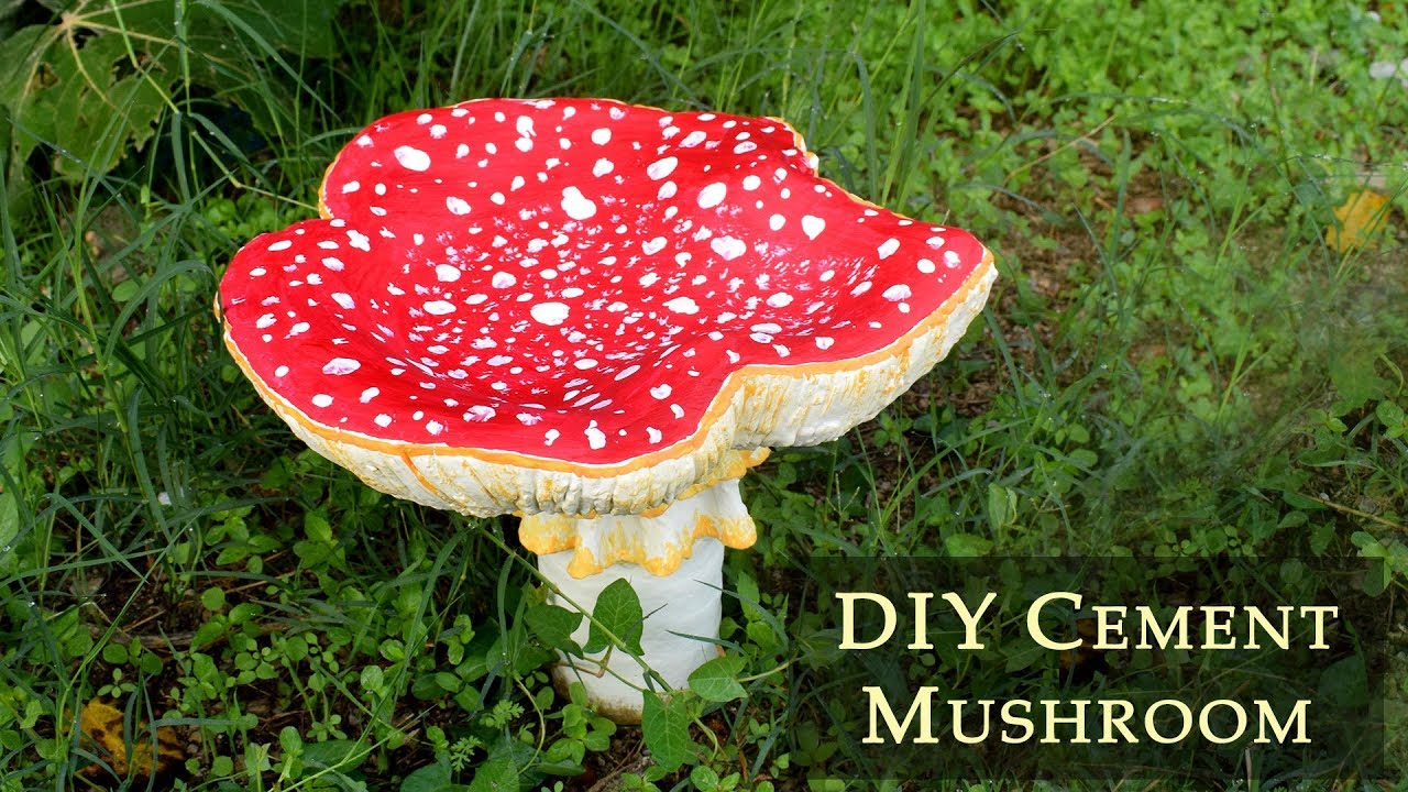 Diy Cement Mushrooms For Your Garden Making Concrete Toadstools